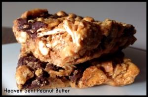 Heaven Sent Peanut Butter: Peanut Butter Granola Bars